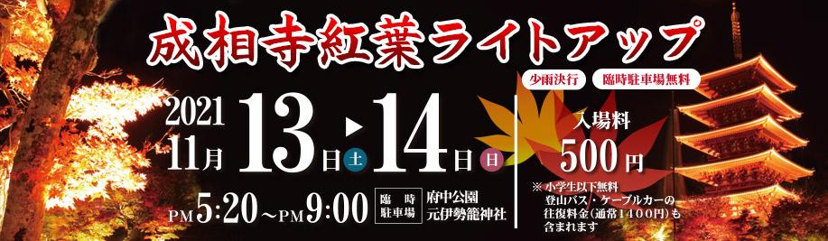 11月13日(土)、14日(日)開催 成相寺紅葉ライトアップ