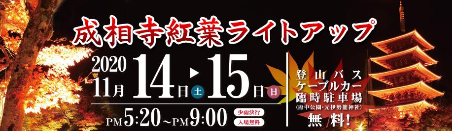 11月14日(土)、15日(日)開催 成相寺紅葉ライトアップ